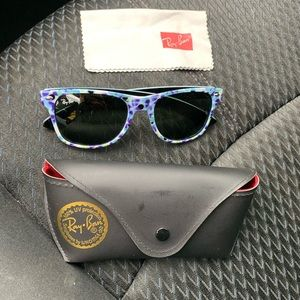 Floral Ray band's sunglasses